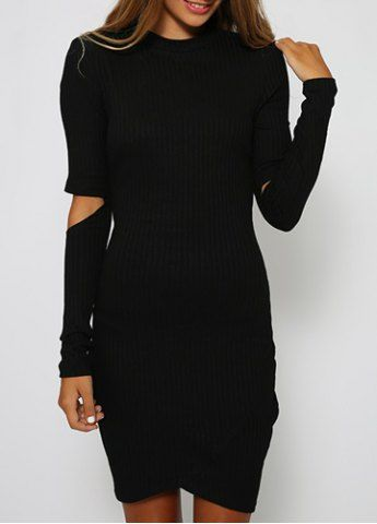Sexy Round Neck Long Sleeves Cut Out Bodycon Women's DressBodycon Dresses | RoseGal.com