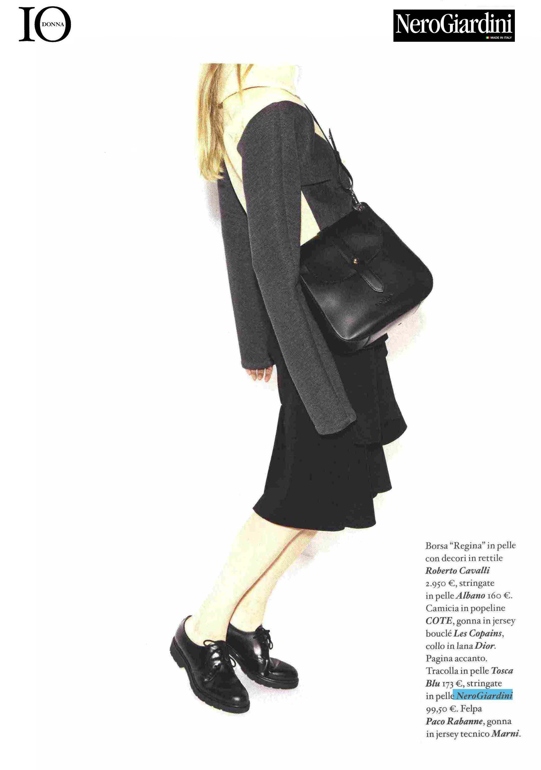 IO DONNA - editorials 2014 #nerogiardini #shoes #laceupshoes