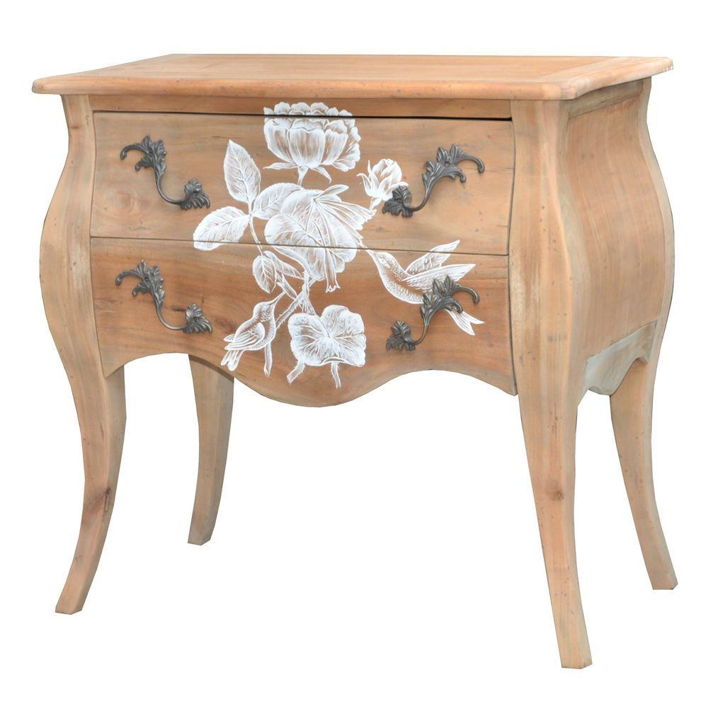 Corona Solid Wood Modern 66cm 70cm Bedside Tables