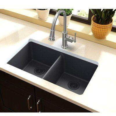 Elkay Quartz Classic 33 X 19 Double Basin Undermount Kitchen