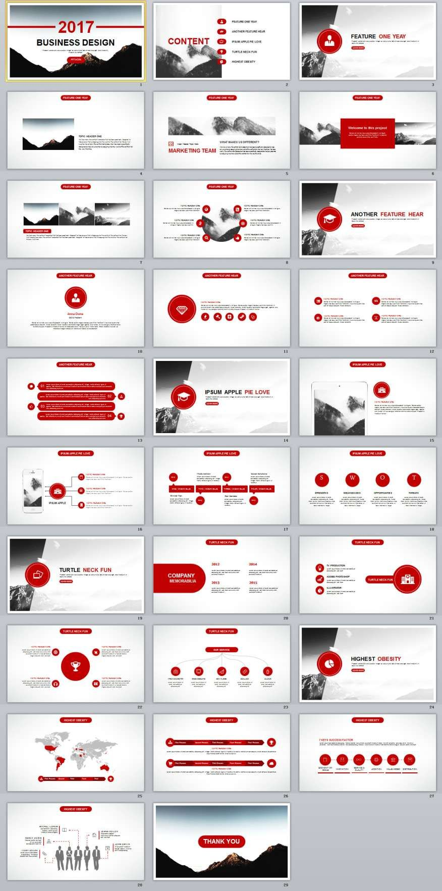 29+ red business annual report powerpoint templates | presentation, Modern powerpoint