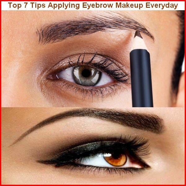 Tips applying eyebrow makeup everyday