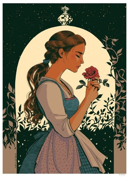 Image Via Cyclops Print Works Beauty And The Beast Beauty The