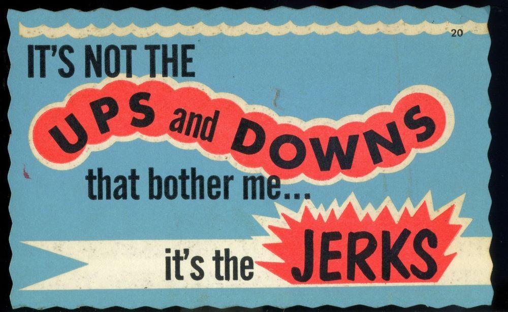 Vtg impko decal sticker post card novelty nos i hate jerks