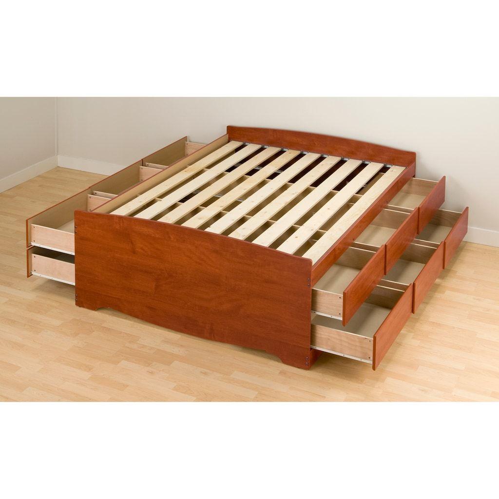Prepac Queen 12 Drawer Platform Storage Bed Kohls With Images