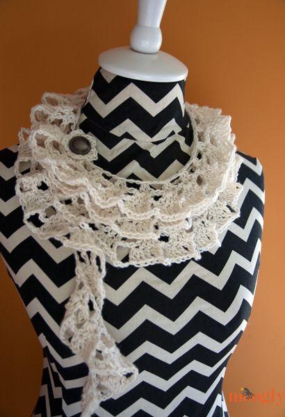 Tallulah Waterfall Scarf: Free Crochet Pattern   Patrones de crochet ...