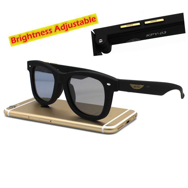 Las Lentes Polarizadas gafas de Sol de Diseño Original LCD Mannually ...