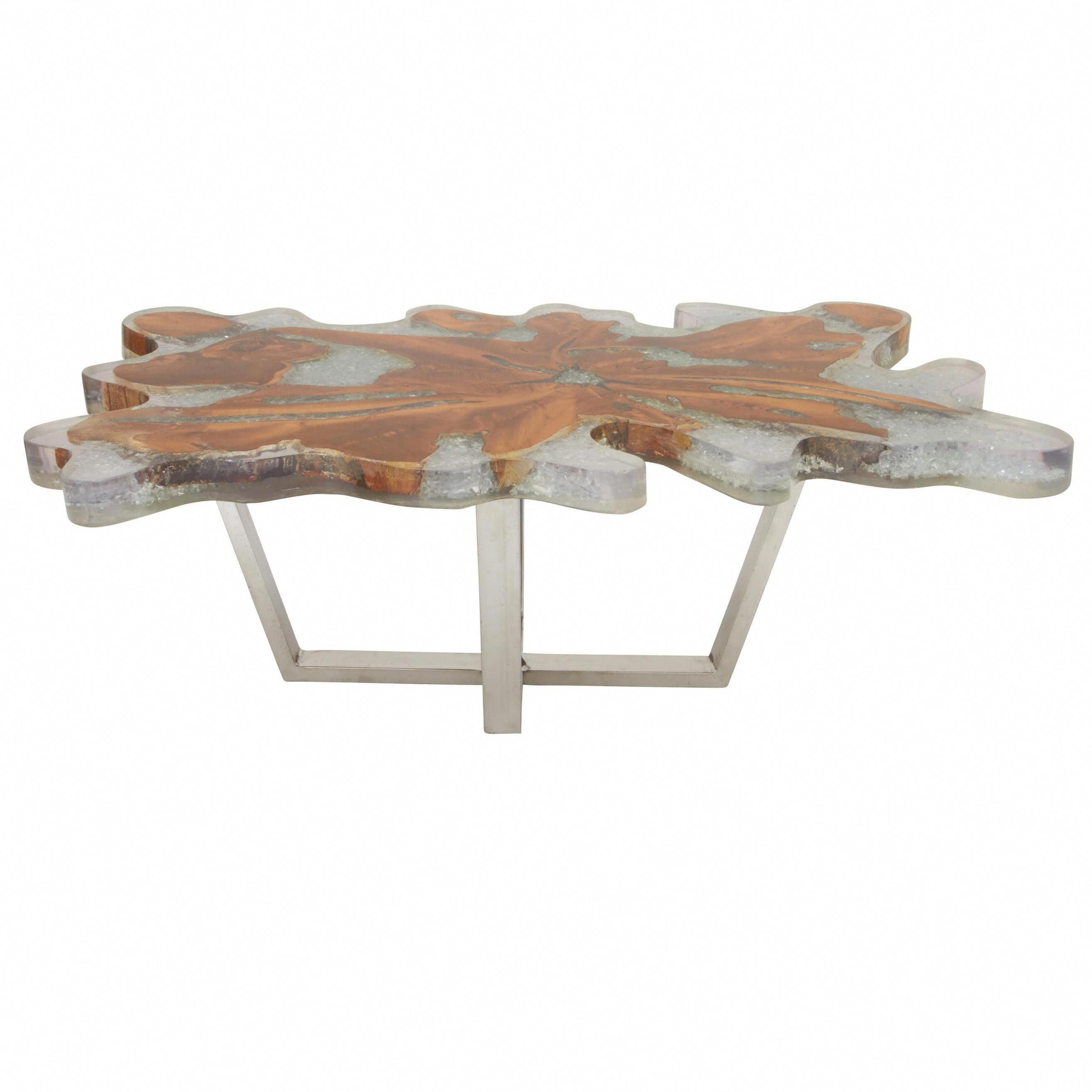 natural 18 x 47 inch teak wood resin and stainless steel burl rh pinterest com