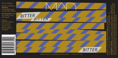 Bitter (IPA brewed with Shiso), MAD Beer