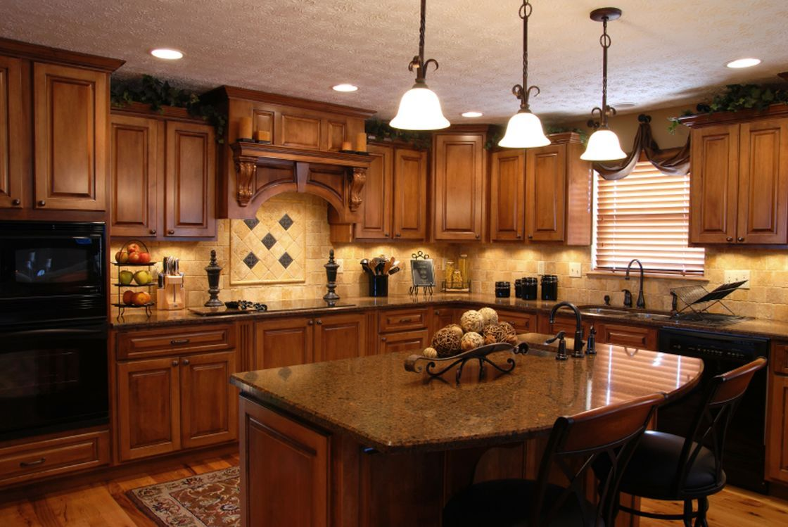 Best Of Traditional Style Home Kitchen Ideas Pictures With Cherry Tuscan L Shaped Kitchen Cabine Tuscan Kitchen Tuscan Kitchen Design Tuscan Decorating Kitchen