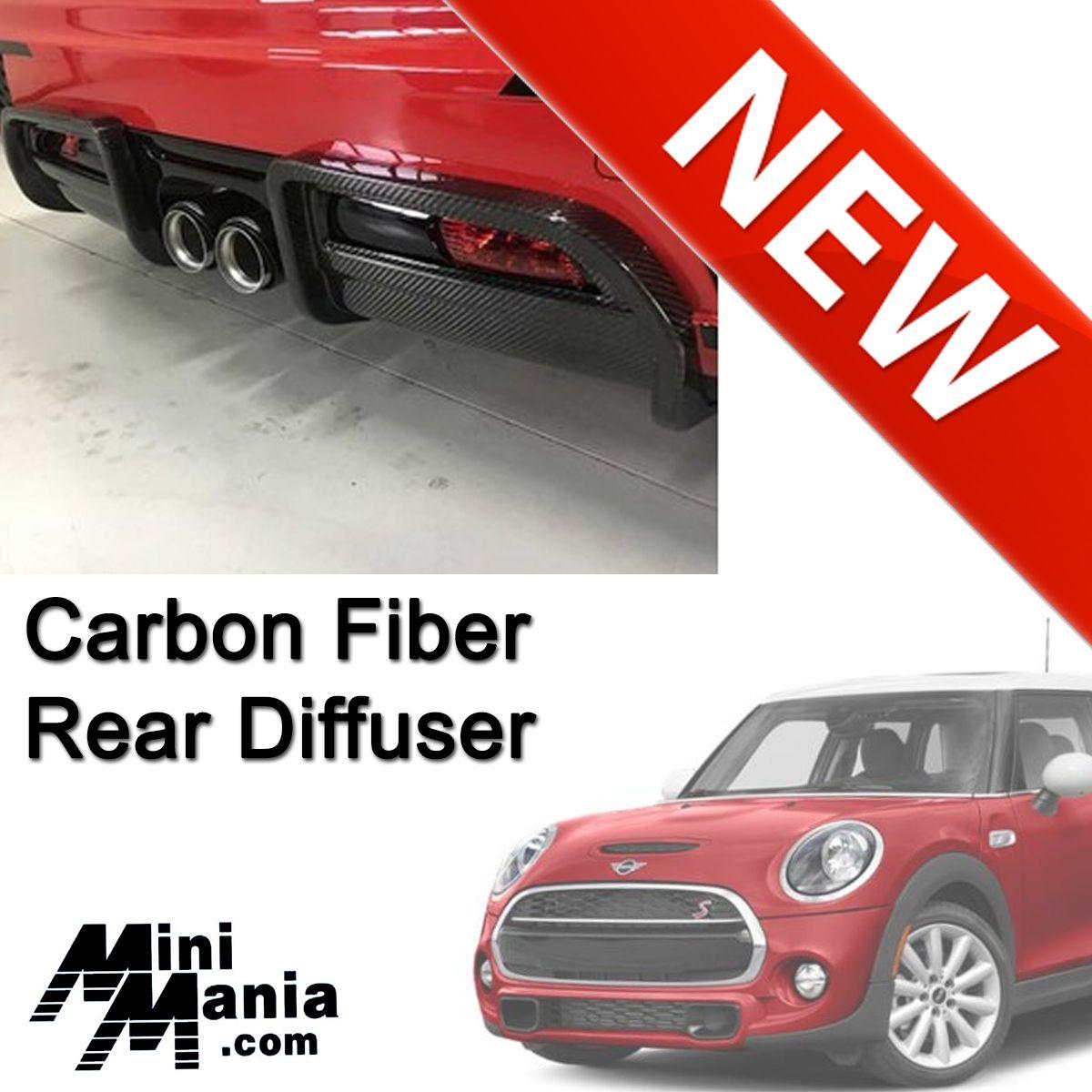 Mini Cooper Jcw Pro Carbon Fiber Rear Diffuser Cover Gen3 F56 Mini Cooper Carbon Fiber Mini Cooper S