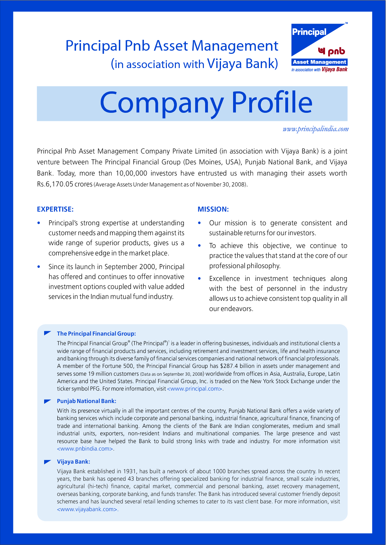 business profile examples