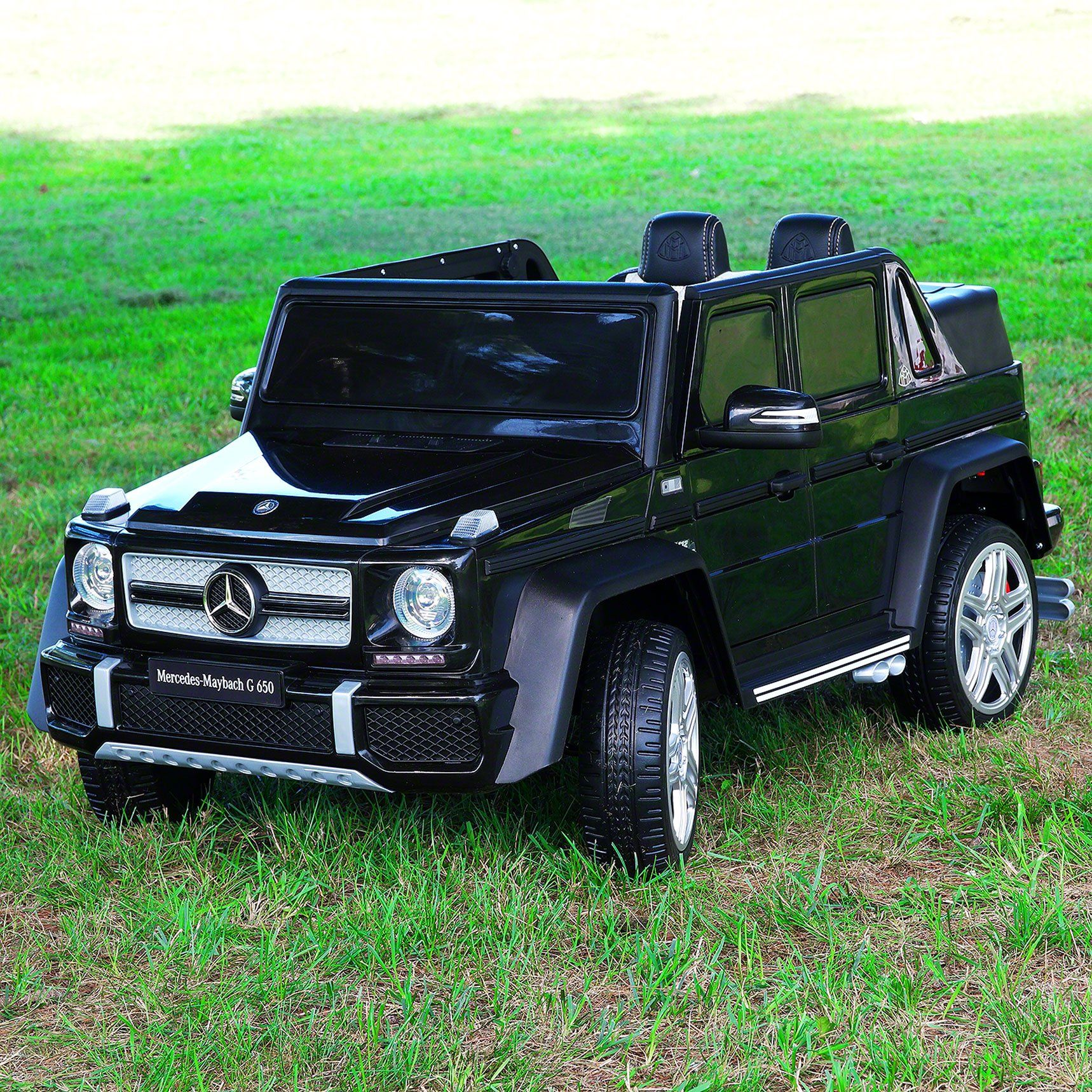 Mercedes Maybach G650 12v Kids Ride On Car With Parental Remote Black In 2020 Mercedes Maybach Kids Ride On Maybach