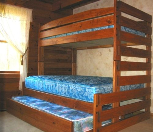 B038 Twin Full Stackable Bunk Bed Frontier Style Hogar