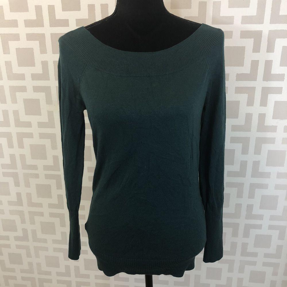 105f467ae8 Ann Taylor LOFT Womens S Dark Green Off Shoulder Tunic Sweater NWT   AnnTaylorLOFT  PulloverSweater  Casual