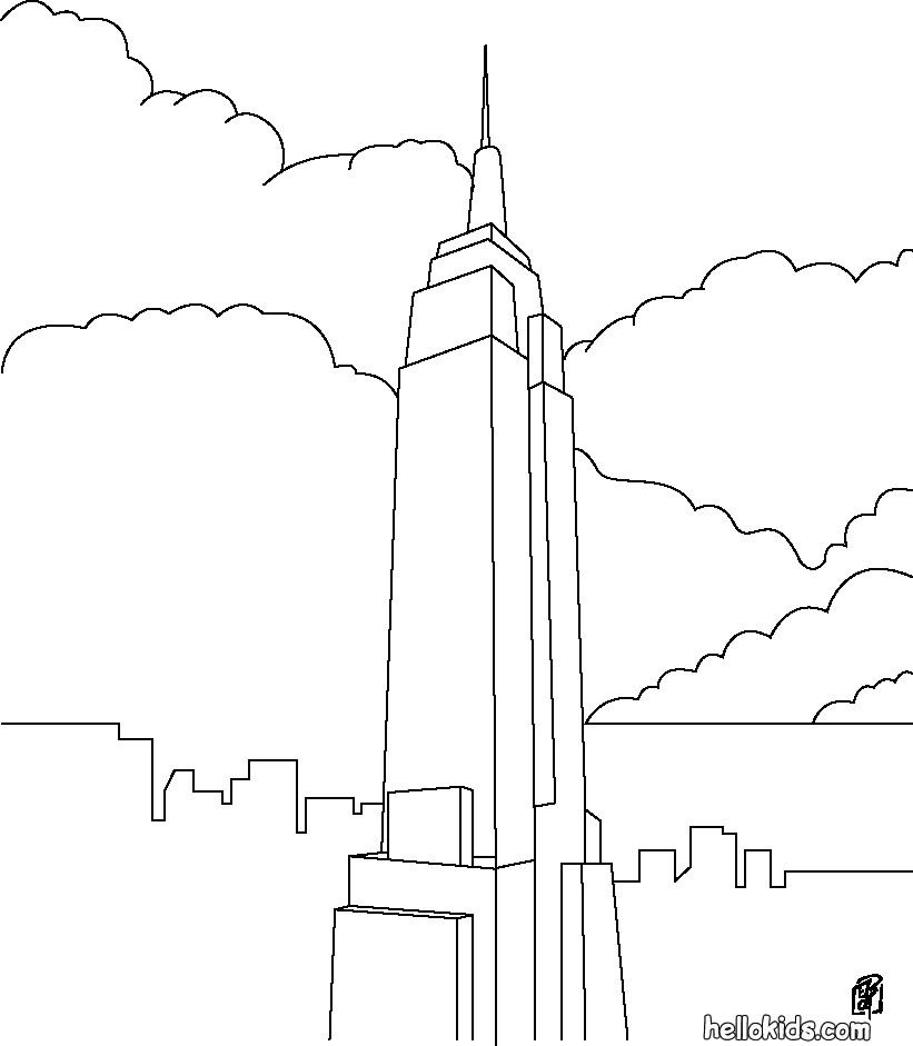 Line Drawing Buildings : Line drawing of emprie state building craft day