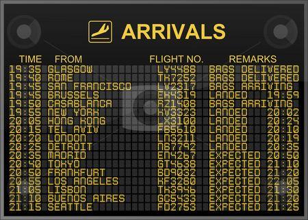 Arrivals Board Departures Board International Airport Departures