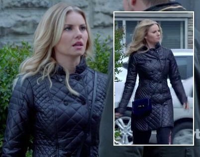 Alexs long black quilted coat on Happy Endings | Clothing ... : long black quilted coat - Adamdwight.com