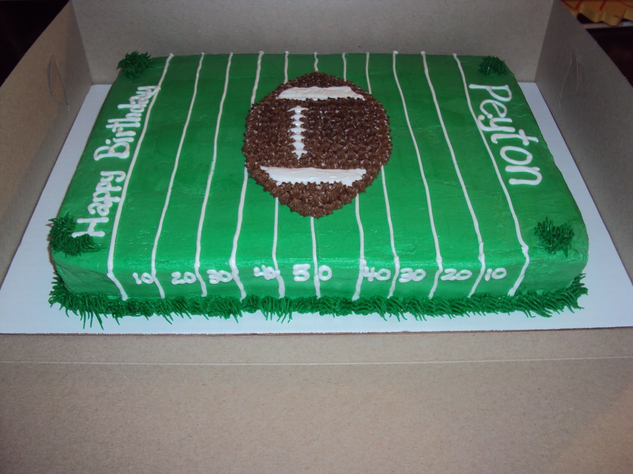Football Field Cake Casi S Cakery Decorative Baking