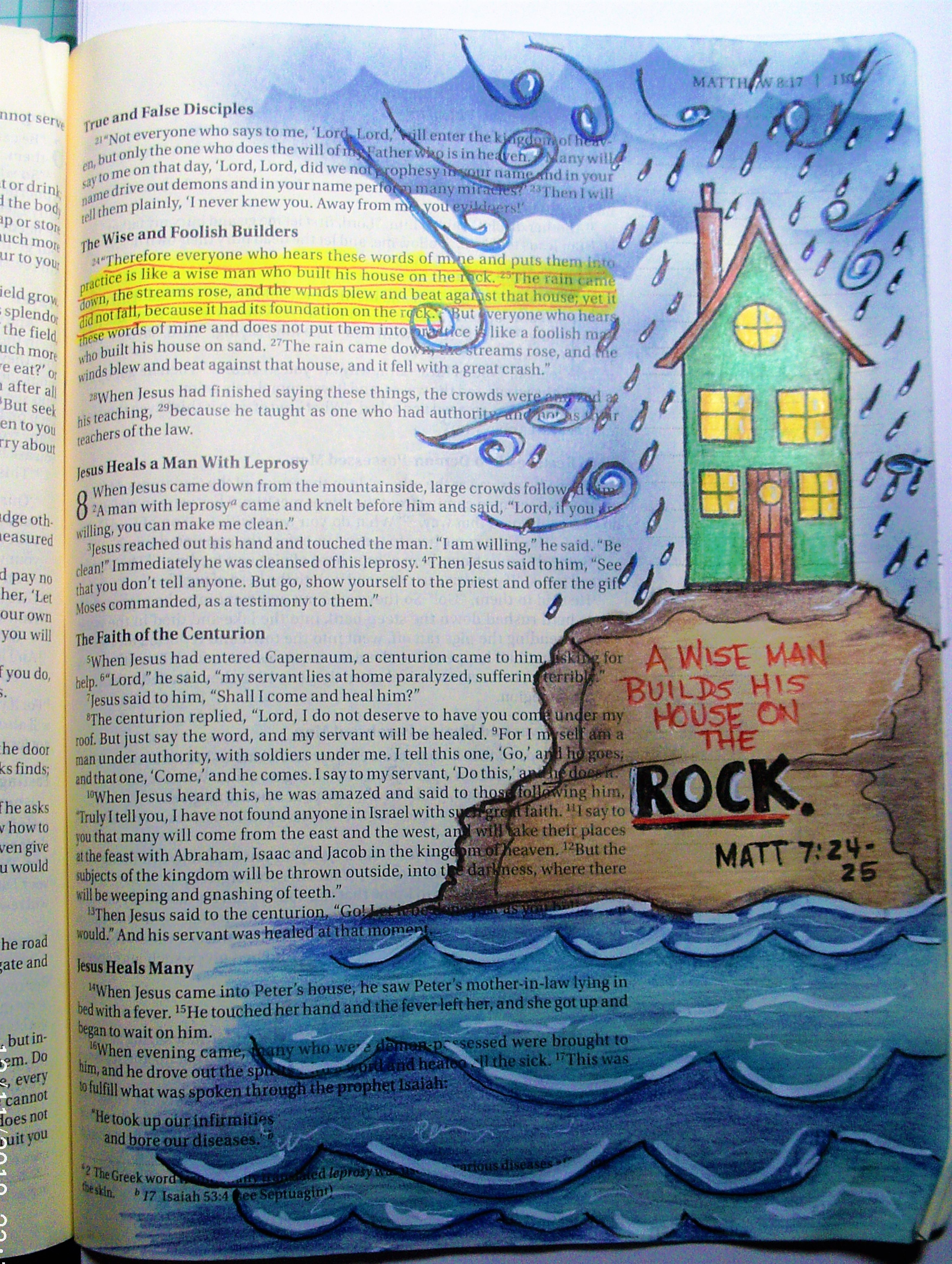 matthew 7 24 25 a wise man builds his house on the rock nicole s rh pinterest com