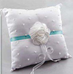 Flower Frill Wedding Ring Bearer Pillow Homemade Ring bearer