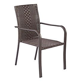 wilson fisher resin wicker high back stack chair thinking these rh pinterest com