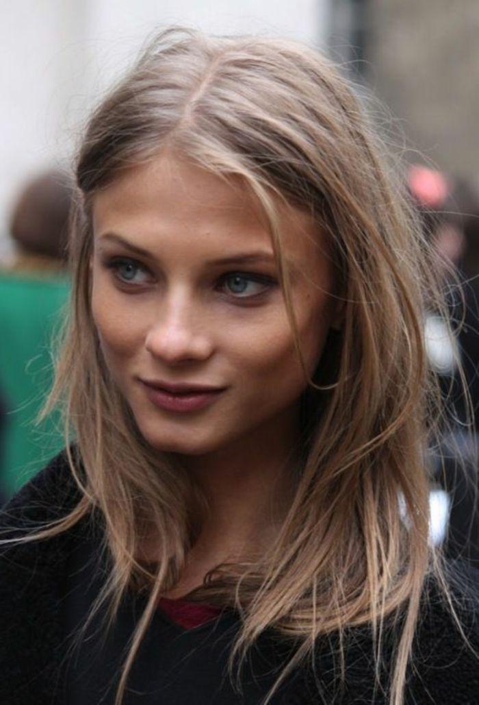 Id e tendance coupe coiffure femme 2017 2018 la couleur blond fonc parfait pour cette t - Tendance coiffure 2017 2018 ...