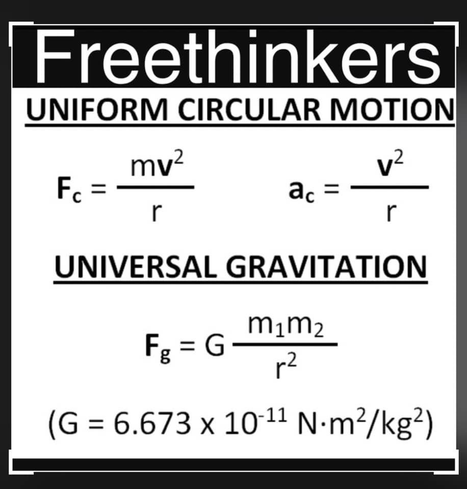 Freethinkers Uniform Circular Motion Is Actually A Specific Type Of Motion An Object Is Undergoing Uniform Circular Motion I Science Physics Science Lab