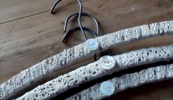 . . . lace covered wooden hangers