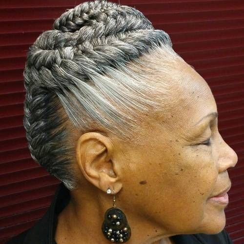Braided Hairstyle For Women Over 60 Womens Hairstyles Hair Styles Headband Hairstyles