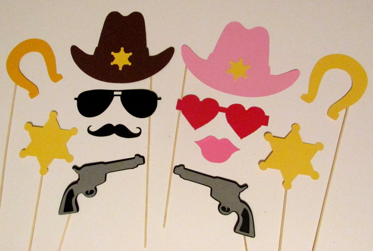 Photo Booth Props 12 pc Western Photobooth