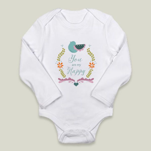 Fun Indie Art from BoomBoomPrints.com! http://www.boomboomprints.com/Product/kathrinlegg/You_are_my_Happy/Long-Sleeve_Onesies/0-3M_Cloud_White_Long-Sleeve_Onesie/