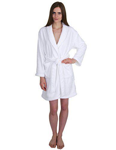 Acanva Women s   Men s Terry Robe Plush Cotton Spa Kimono...  41af31b4f