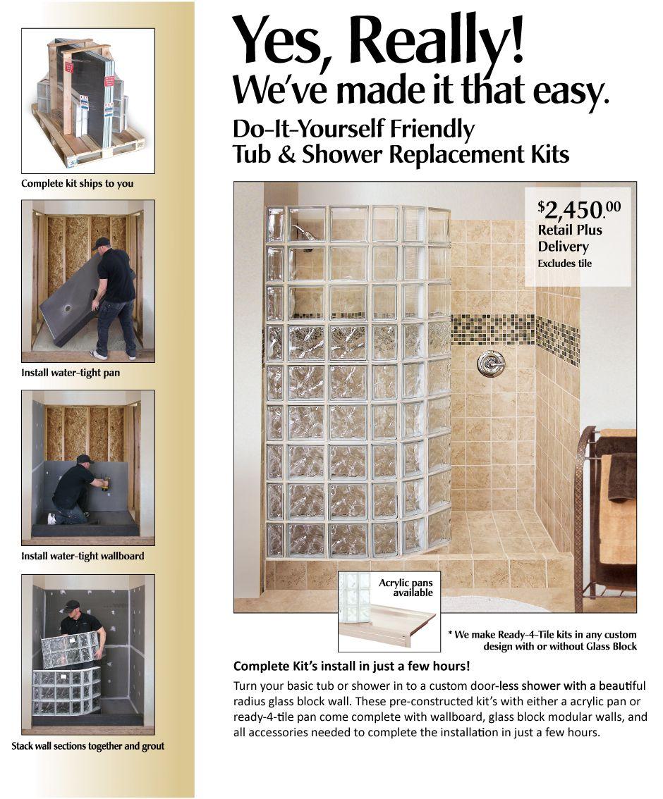 acrylic panels for bathroom walls%0A Seattle Glass Block  u     Tub Replacement Kit  Bathtub Replacement Kit  Shower u