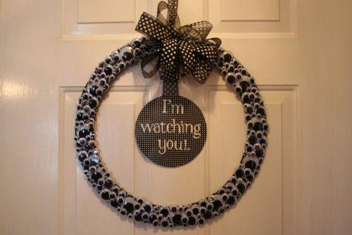 Googly Eye Wreath Diy Halloween Decorations Halloween