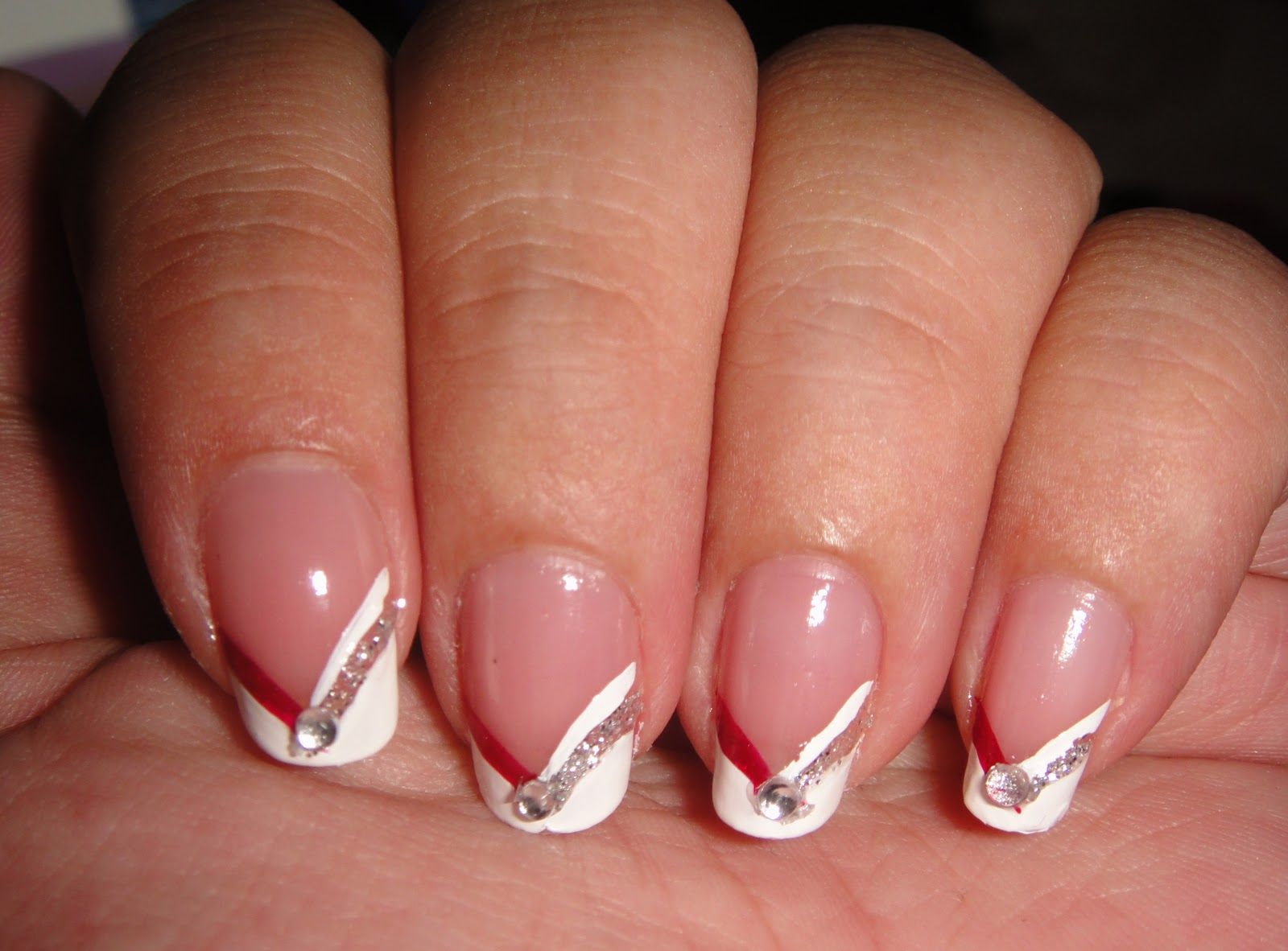 Colored french nail design - Fall Nail Art Designs Chevron French Plus Fall Nail