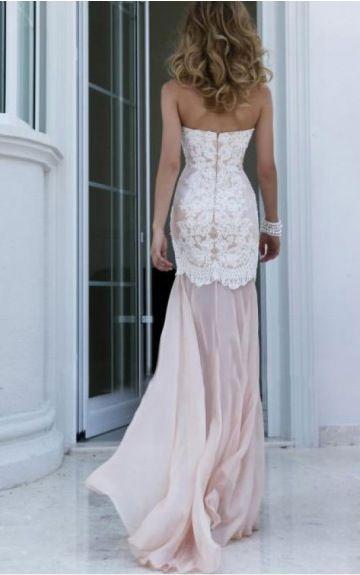 Sleeveless Zipper Chiffon Strapless,Sweetheart Sheath Formal Dresses gjea70011--Hodress