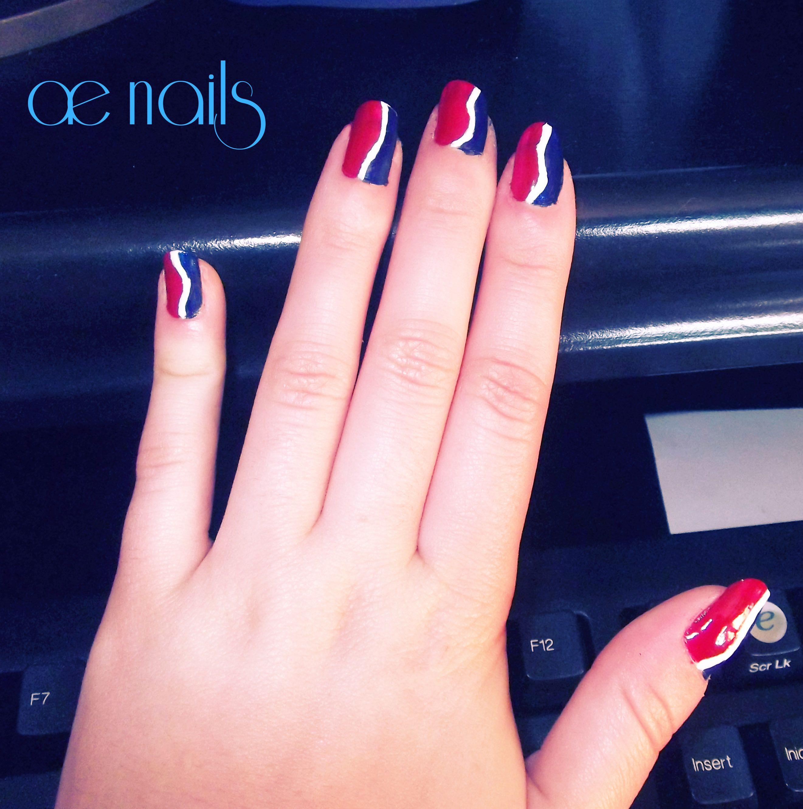 Uñas pepsi nails design   Mis diseños de uñas   Pinterest   Diseños ...