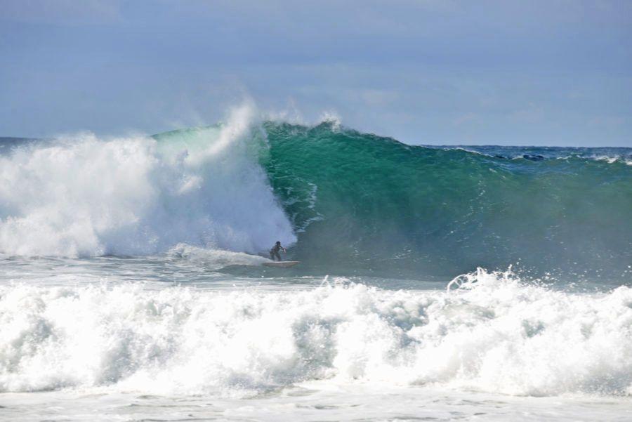 Angelo Luhrsen At Redondo Beach Breakwall Surfing Big Waves Waves