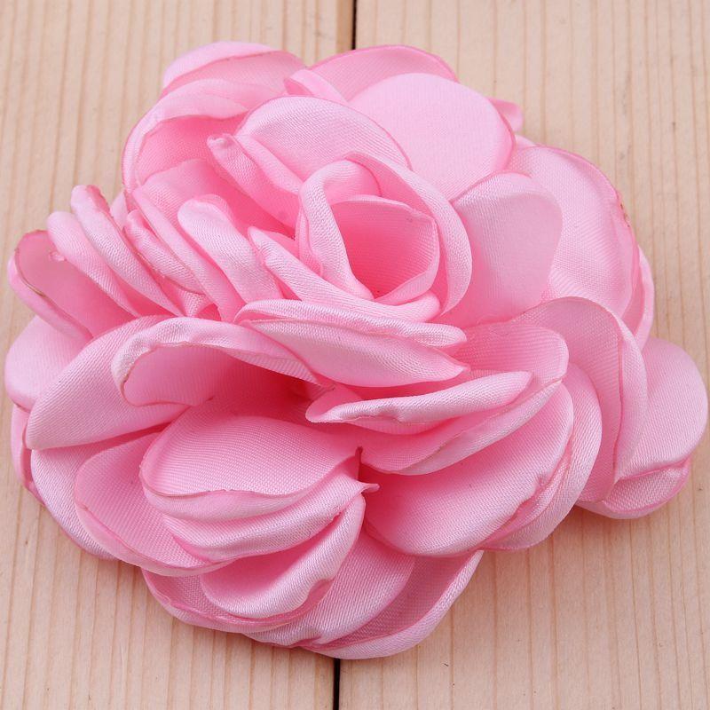 30pcs/lot 8CM 20 Colors Newborn Vintage Soft Artificial Fabric Flowers For Headbands Chic