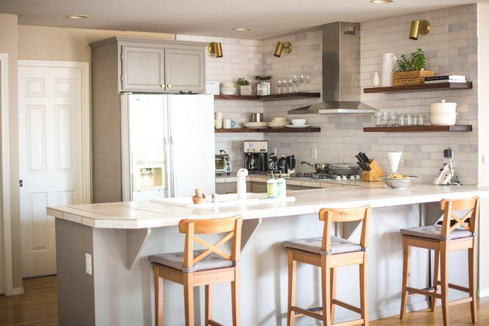 rustic white brick kitchen backsplash installation gallery rh pinterest com