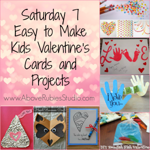 7 Easy To Make Kids Valentines Cards Ideas at http://www.AboveRubiesStudio.com