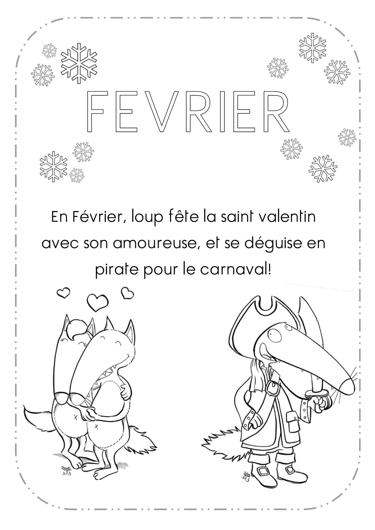 Nouveau Image Petit Loup A Colorier