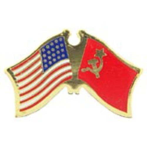 "American & USSR Flags Pin 1"" by FindingKing. $8.50. This is a new American & USSR Flags Pin 1"""