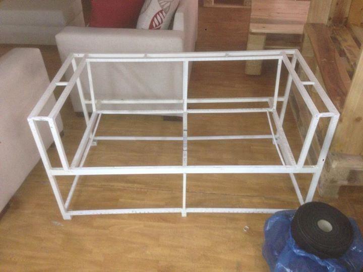 diy pallet iron pipe. Diy Welded Squared Metal Iron Pipe Sofa Frame Pallet W