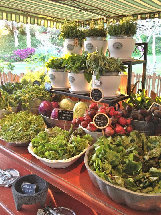Market Style Salad Bar with Fresh Herbs and Greens \u2013 shared on