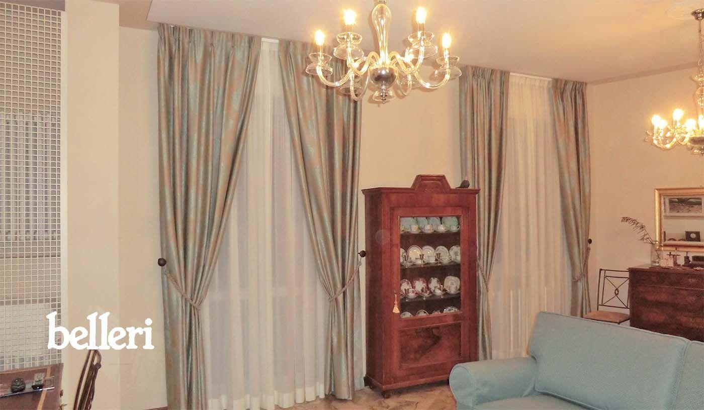Tendaggi classici classiche doppie tende a soffitto for Riloga tende ikea