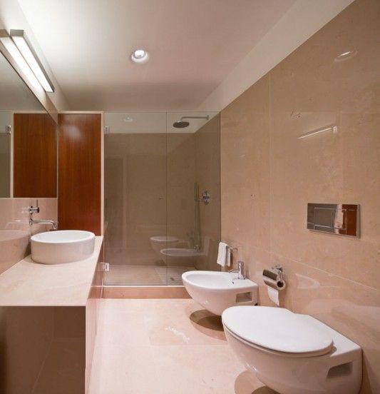 Luxuriousebathroomwithmarblewallapartmentremodelingideas48 Stunning Apartment Wall Decorating Ideas Remodelling