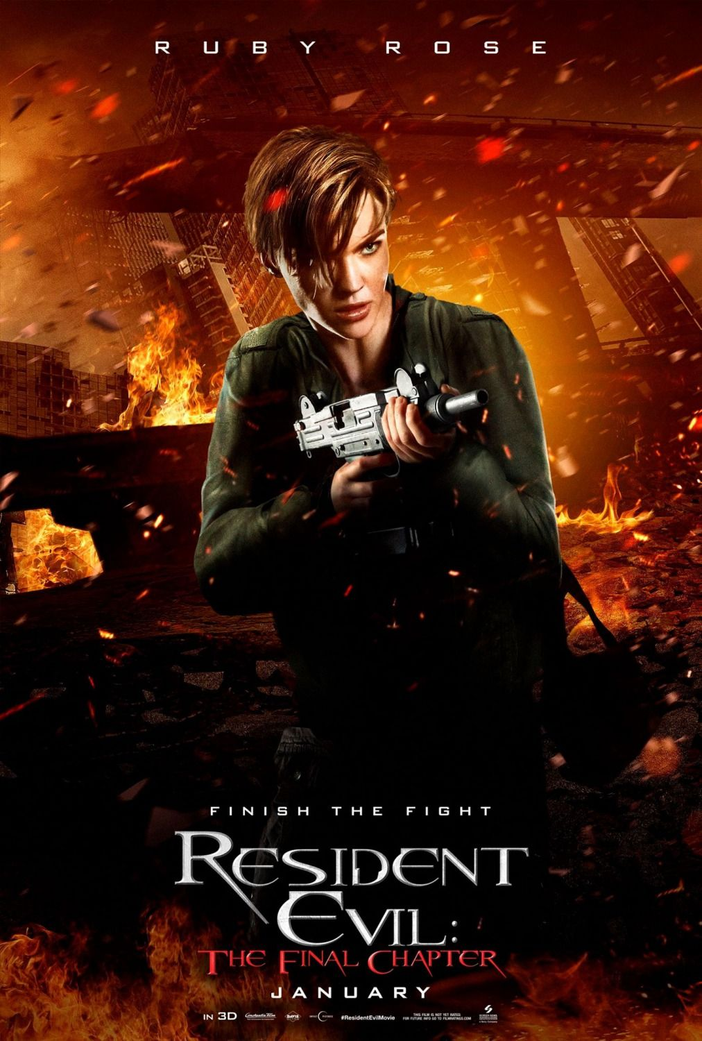 Resident Evil The Final Chapter Ruby Rose As Abigail Resident