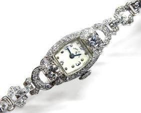 Platinum and Diamond Lady Elgin Watch (similar)
